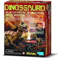 Kit de Escavação de Esqueleto- Velociraptor