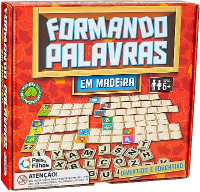 JOGO - FORMANDO PALAVRAS DE MADEIRA