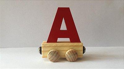 Vagão Letra A - Vermelha