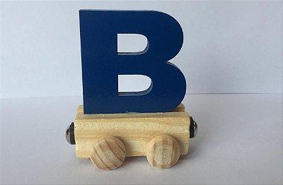 Vagão Letra B - Azul