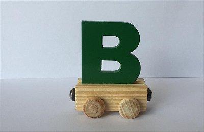 Vagão Letra B - Verde