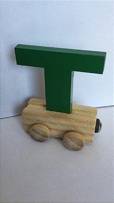 Vagão Letra T - Verde