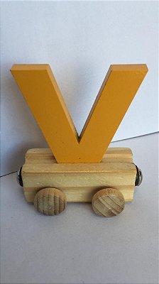 Vagão Letra V - Amarela