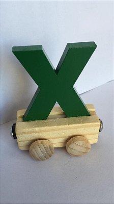 Vagão Letra X - Verde