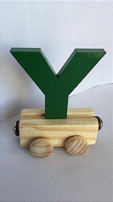 Vagão Letra Y - Verde