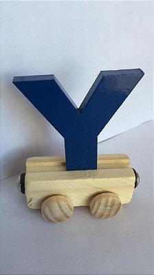 Vagão Letra Y - Azul