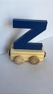 Vagão Letra Z - Azul