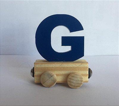 Vagão Letra G - Azul