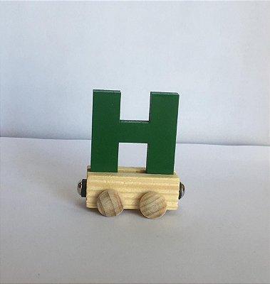 Vagão Letra H - Verde