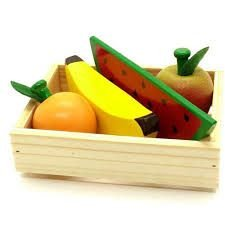 Coleção Comidinha - Kit 8 - 4 Frutas Sem Corte + Caixa