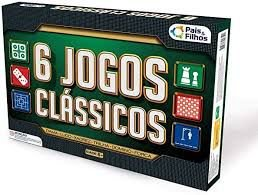 6 Jogos Clássicos - Dama/Ludo/Xadrez/Trilha/Dominó/Forca