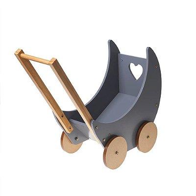 Carrinho de boneca Metoo cinza - madeira