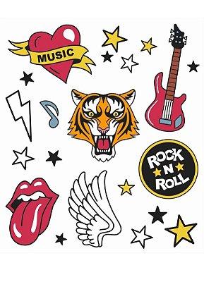 Tatuagem Temporária -  Rock n Roll