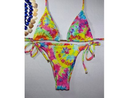 Biquíni cortininha Tie Dye Multicor