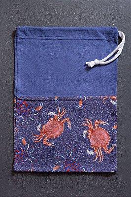 Saquinho Melia Tempestas Crustacea com Estampa de Siris