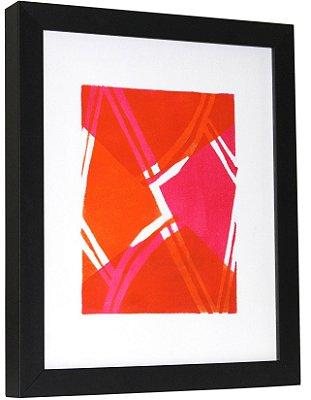 Gravura | Geométrico laranja e rosa