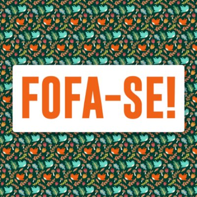 """QUADRO DE VIDRO """"FOFA-SE"""" 30CM X 30CM"""