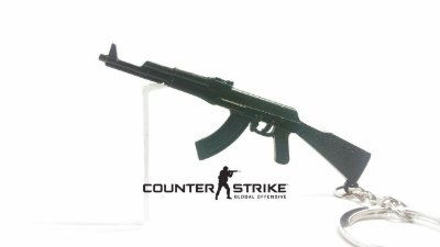 Chaveiro de Metal - Miniatura Arma Automática de Kalashnikov modelo de 1947 AK-47 - Counter Strike