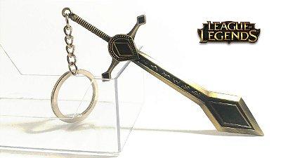 Chaveiro de Metal - Miniatura Espada da Kayle Personagem - League of Legends