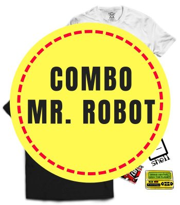Combo Especial Mr. Robot - 2 Camisetas mais 4 Stickers Brinde