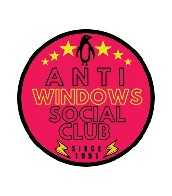 Adesivo Hacker Anti Windows Social Club