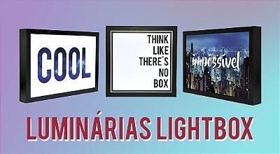 Luminárias Lightbox