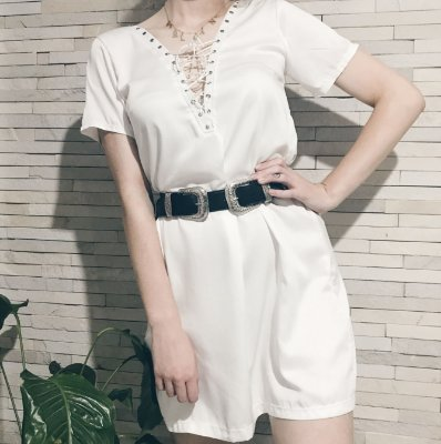 Vestido Amarração Frontal