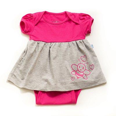 Vestido body abelhinha pink