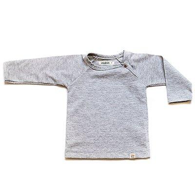 T-Shirt básica manga longa mescla