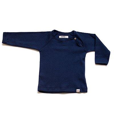 T-Shirt básica manga longa marinho