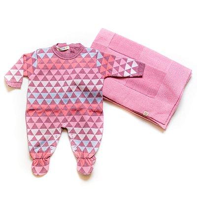 Saída de Maternidade Triangle Rosa