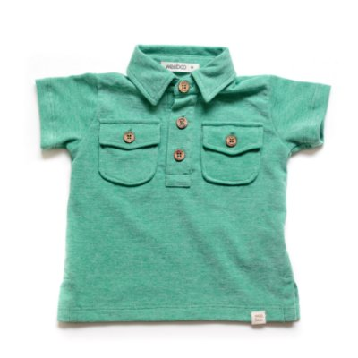 Camisa Polo Bolsos Verde Korn