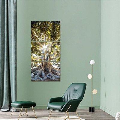 Quadro Árvore da Vida Vertical Natureza Raízes Paisagem