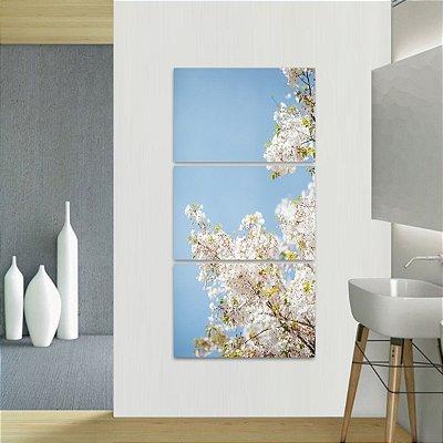 Quadro Flores e Plantas Natureza Paisagem Conjunto Vertical