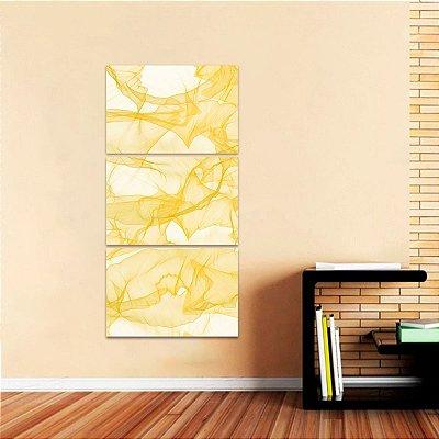Quadro Mosaico Abstrato Moderno Amarelo