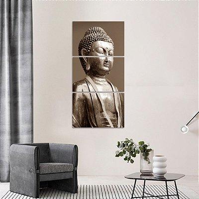 Conjunto 3 Peças Budismo Buda Statue Arte Vertical