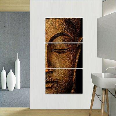 Quadro Estátua de Buda Conjunto 3 Peças Vertical