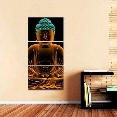 Quadro Mosaico Vertical Buda Vertical decorativo