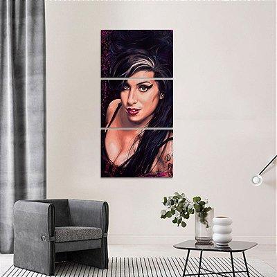 Conjunto 3 Peças Vertical Amy Winehouse Música decorativo