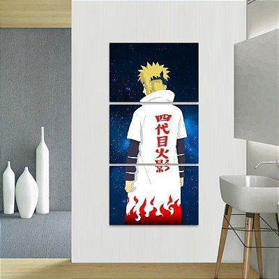 Quadro Naruto Shippuden Arte Vertical Yondaime Hokage