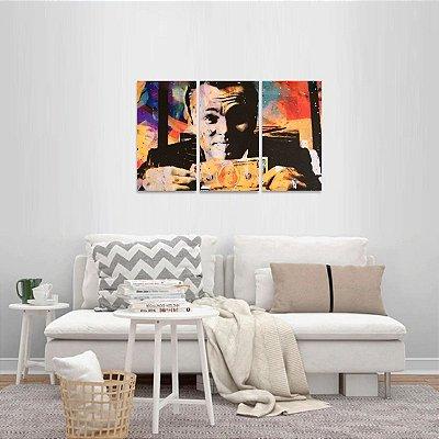 Quadro Lobo de Wall Street Arte Leonardo DiCaprio