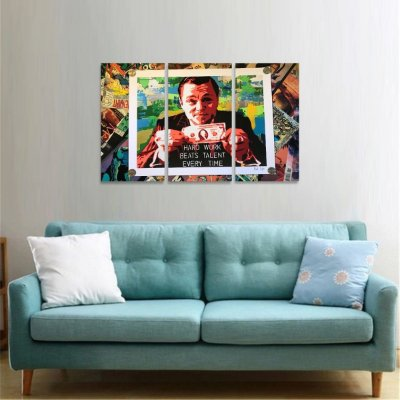 Quadro Hard Work Lobo de Wall Street Arte