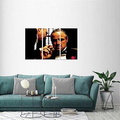 Quadro decorativo Filme O Poderoso Chefão em 3 Peças