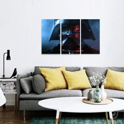 Quadro Mosaico Filmes Star Wars decorativo 3 Telas