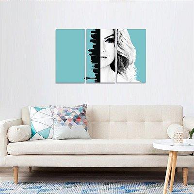 Quadro decorativo Série Greys Anatomy Jogo 3 Telas