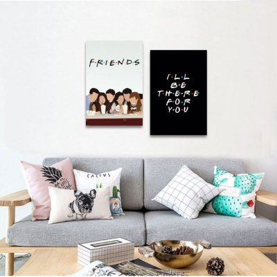 Kit 2 Peças Quadros de Friends ill be there for you