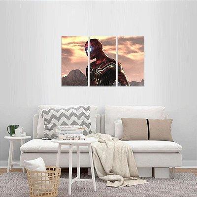 Quadro Homem Aranha Filmes Arte Conjunto 3 Peças