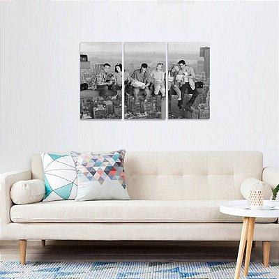 Quadro Friends Série em Preto e Branco Jogo 3 Telas
