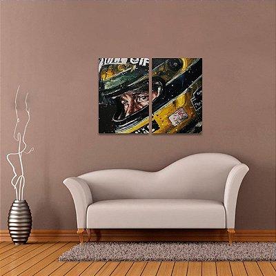 Quadro Ayrton Senna Capacete Artístico Fórmula 1 Velocidade