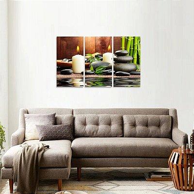 Quadro decorativo Zen Equilibrio Paz Conjunto
